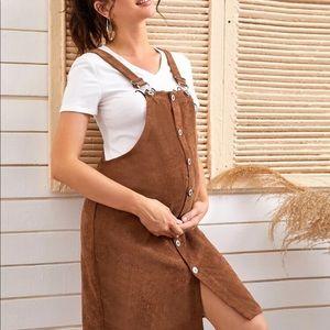 🎉Host Pick SHEIN maternity corduroy overall dress